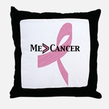 Greater than Breast Cancer Throw Pillow
