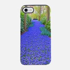 Grape Hyacinth Path iPhone 7 Tough Case