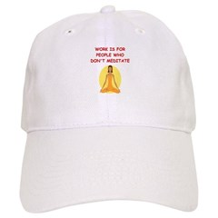 meditation humor Baseball Cap