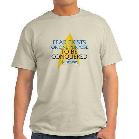 Star Trek: Janeway Fear Quote Light T-Shirt