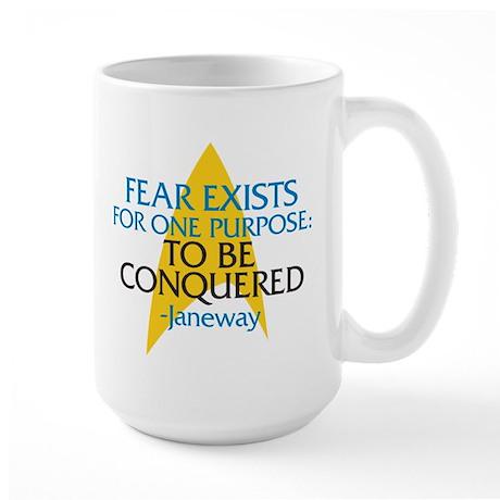 Star Trek: Janeway Fear Quote Large Mug