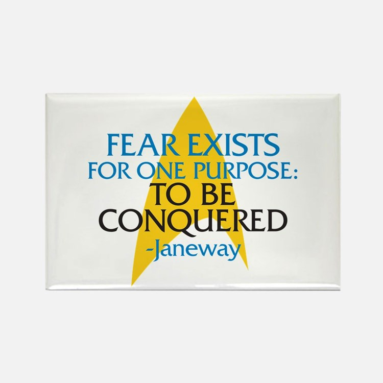 Star Trek: Janeway Fear Quote Rectangle Magnet