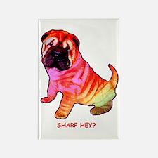 Sharpei - Sharp Hey in Rainbow colors Rectangle Ma