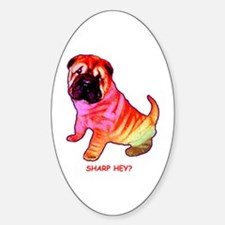 Sharpei - Sharp Hey in Rainbow colors Decal