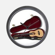 Guitar And Case Wall Clock