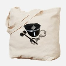 Handcuffs Gavel Police Hat Tote Bag