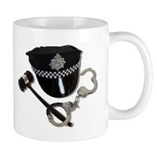 Handcuffs Gavel Police Hat Mug