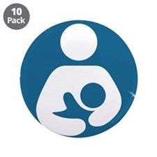 """Sentient Baby 3.5"""" Button (10 pack)"""
