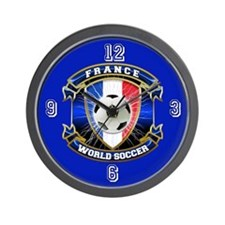 France World Soccer Wall Clock
