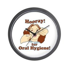 Hooray For Oral Hygiene Wall Clock