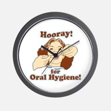 Hooray For Oral Hygiene Wall Clock