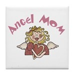 Angel Mom Tile Coaster
