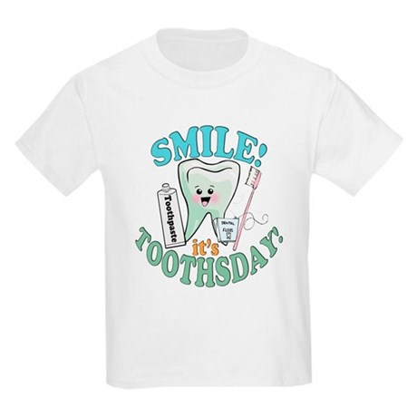 Smile It's Toothsday! Kids Light T-Shirt