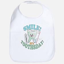 Smile It's Toothsday! Bib