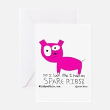 Wild Eyed Pixie - SpareRibs Greeting Cards (Packag