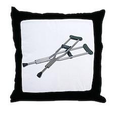 Metal Crutches Throw Pillow