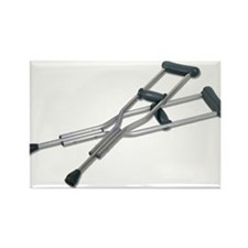 Metal Crutches Rectangle Magnet (10 pack)