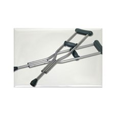 Metal Crutches Rectangle Magnet