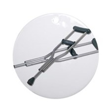 Metal Crutches Ornament (Round)