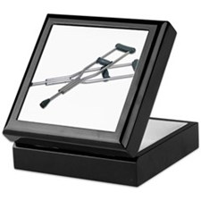 Metal Crutches Keepsake Box