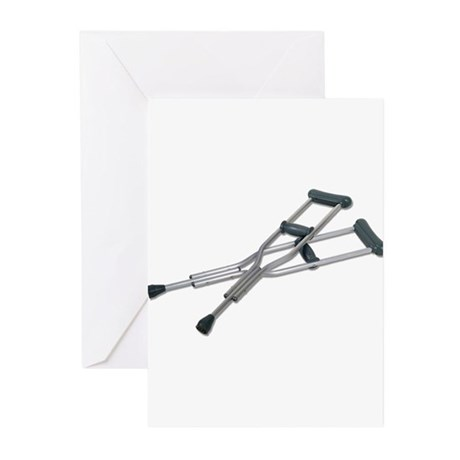 Metal Crutches Greeting Cards (Pk of 10)