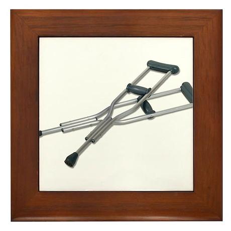 Metal Crutches Framed Tile