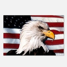 Bald Eagle Flag Water Color Postcards (Package of