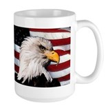 Bald eagle Large Mugs (15 oz)