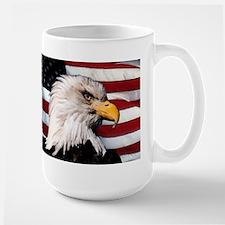 Bald Eagle Flag Water Color Mug