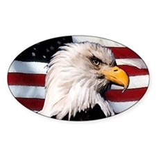 Bald Eagle Flag Water Color Decal