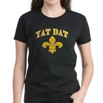 Cajun French Who Dat Women's Dark T-Shirt