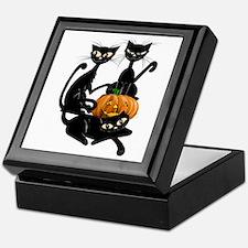Three Black Kitties and a Pum Keepsake Box