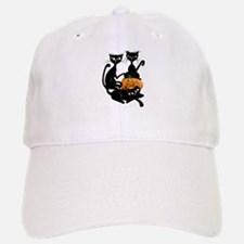 Three Black Kitties and a Pum Baseball Baseball Cap