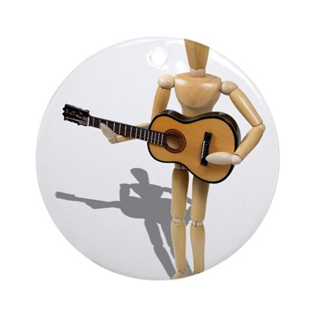 Playing Guitar Ornament (Round)