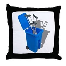 Recycled Crutches Throw Pillow