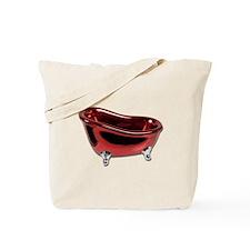 Red BathTub Tote Bag