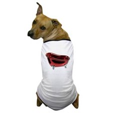 Red BathTub Dog T-Shirt