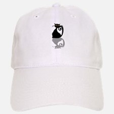 Single Black Kitty Baseball Baseball Cap