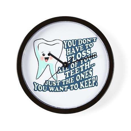 Floss Your Teeth Wall Clock