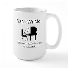 NaNoWriMo Social Interaction Mug