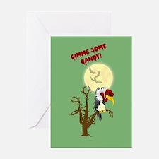 Halloween Buzzard Greeting Card