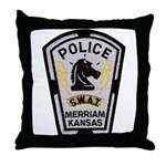 Merriam Police SWAT Throw Pillow