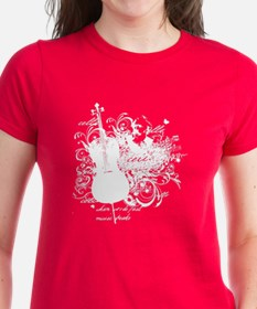 Music Speaks Cello Tee