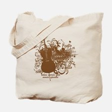 Music Speaks Cello Tote Bag