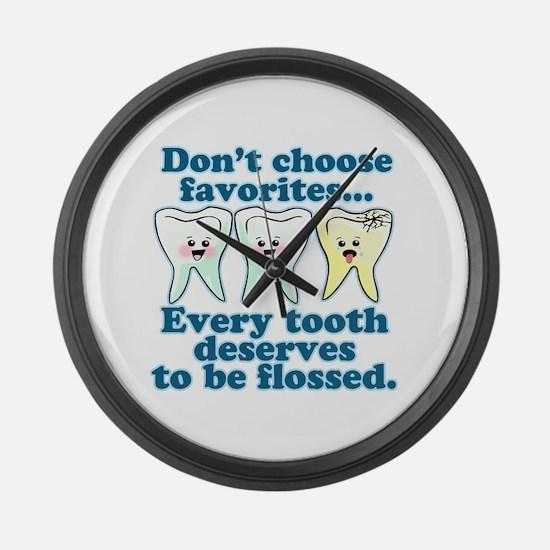 Funny Dentist Humor Large Wall Clock