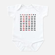 Prime Numbers Infant Bodysuit