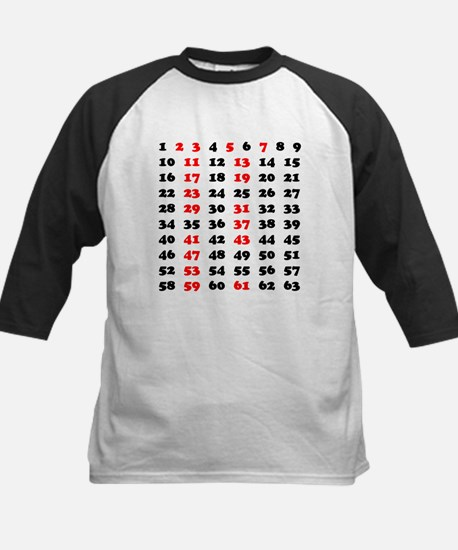 Prime Numbers Kids Baseball Jersey