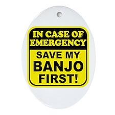 Banjo Emergency Ornament (Oval)