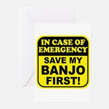 Banjo Emergency Greeting Cards (Pk of 10)