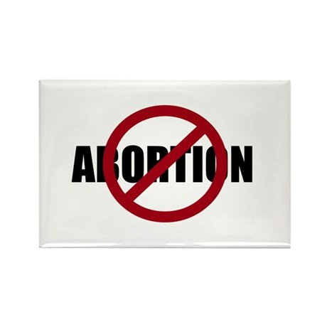 Anti-abortion Rectangle Magnet (100 pack)